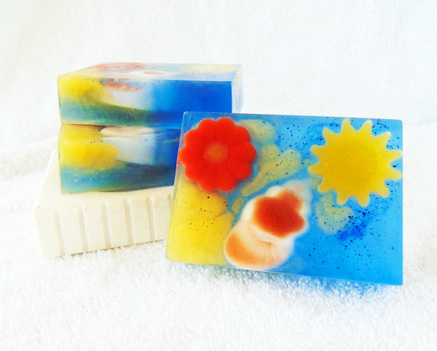 Summer Reading Goat Milk and Glycerin Soap Inspired by Reading at the Beach in Summer