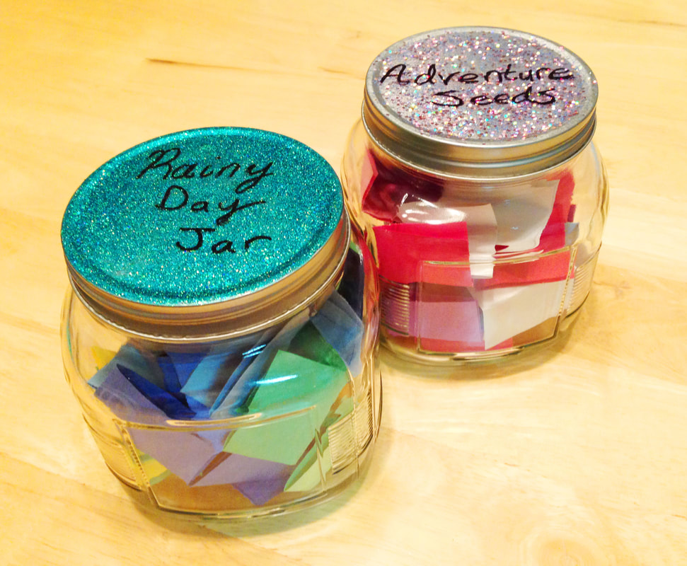 Activity Idea Jars DIY tutorial, simple DIY tutorial for kids, adventure ideas for family, rainy day ideas for family