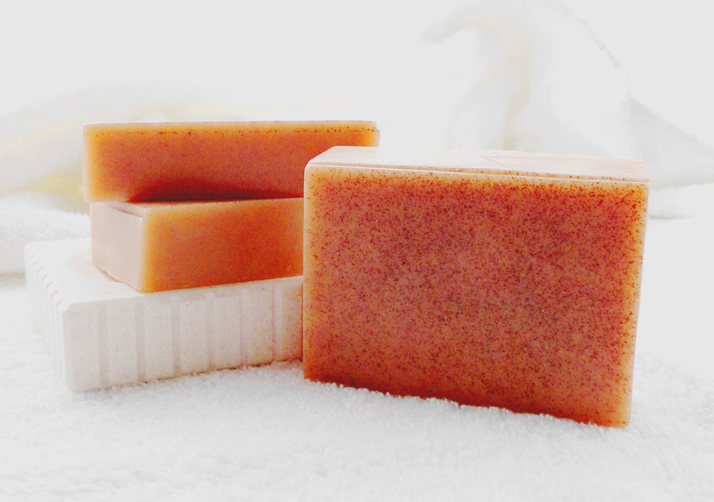Cinnamon Honey Goat Milk Soap made with real honey and ground cinnamon