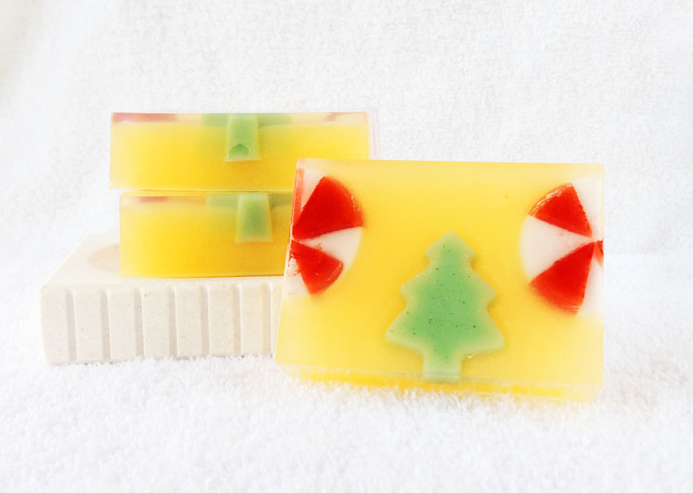 Grandma's Kitchen Goat Milk and Glycerin Soaps from Contented Comfort, Christmas Soaps, detergent free soap, dye free soap,