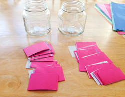 construction paper slips for DIY activity idea jars