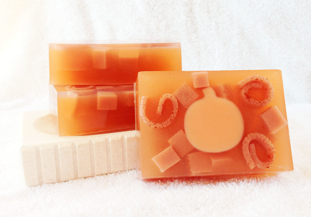 Pumpkin Maple Crunch Goat Milk and Glycerin Soap from Contented Comfort, detergent free soap, dye free soap, super sweet smelling soap