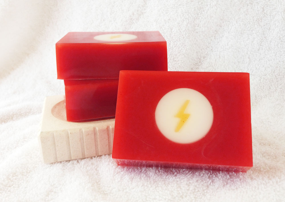 Speedster Goat Milk and Glycerin Soap Inspired by The Flash