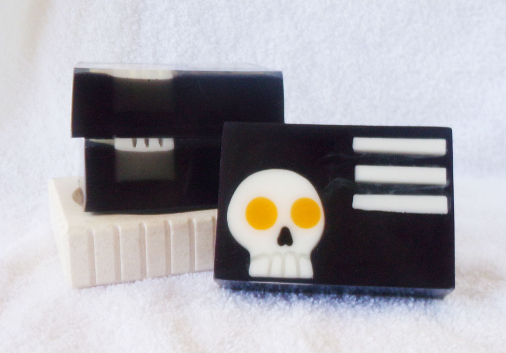 Symmetry! Goat Milk and Glycerin Soaps inspired by Death the Kid from Soul Eater