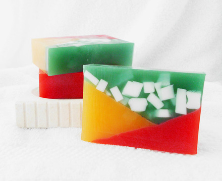 Rainbow Hex Goat Milk and Glycerin Soap Inspired by Colin Baker's Doctor from Doctor Who
