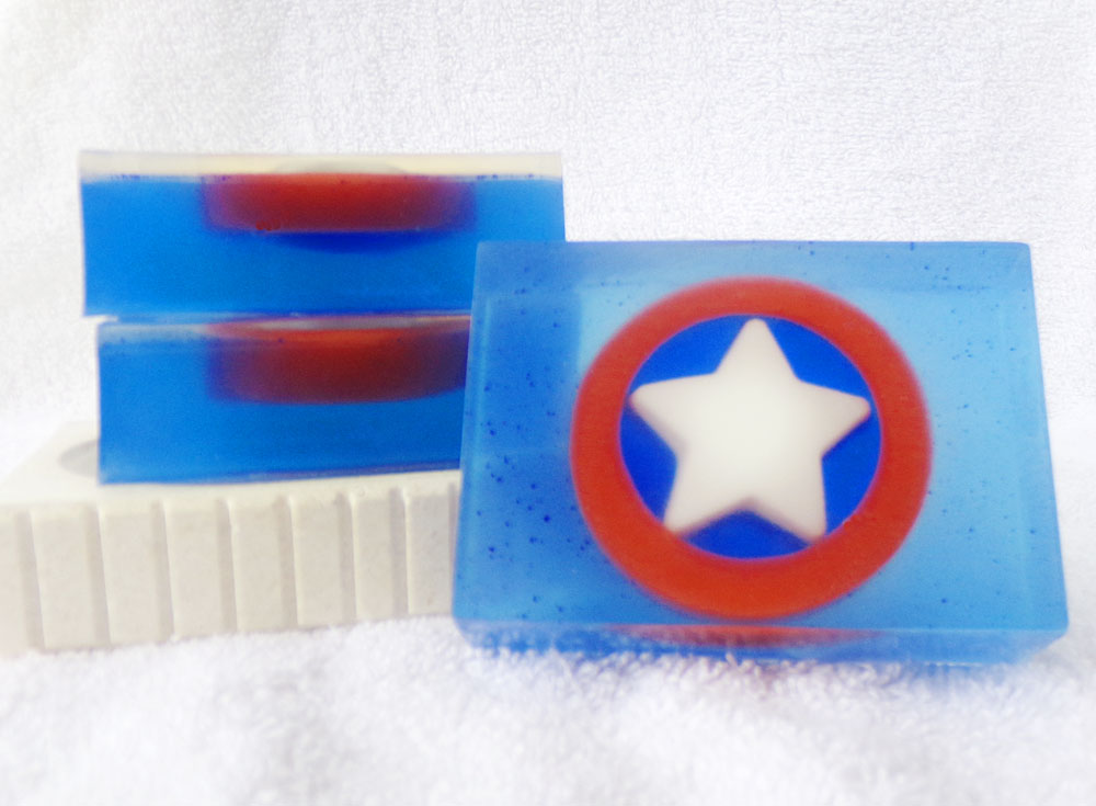 Capt. Boy Scout Goat Milk & Glycerin Soap inspired by Captain America