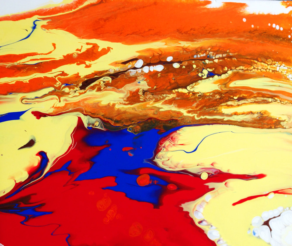 Firebird by Nichole England, Abstract Art, Acrylic Pour Painting