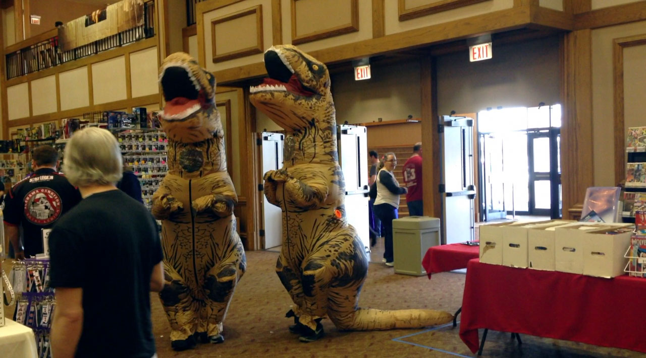 T-Rex Cosplayers at Huntsville Comic and Pop Culture Expo 2017