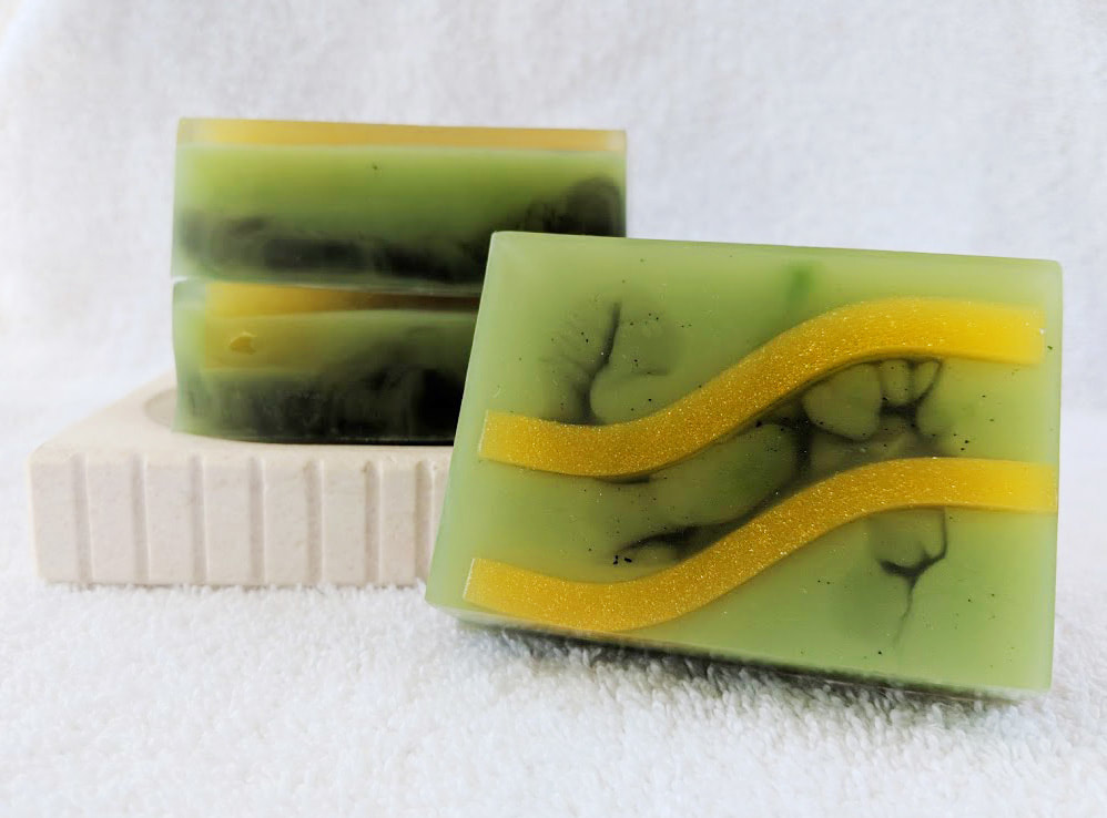Trickster Soap, Soap inspired by Marvel's Loki, Loki inspired soap, geeky soap, superhero soap, goat milk soap, glycerin soap